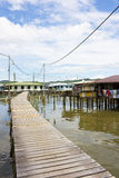 Water Village, Brunei. Image of a section of the old and world's largest water village located at Bandar Seri Begawan, Brunei Royalty Free Stock Photography
