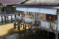 Water village - Brunei. 'Kampong Ayer' where 10% of Brunei lives Stock Photos