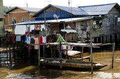 Water village - Brunei. 'Kampong Ayer' where 10% of Brunei lives royalty free stock images