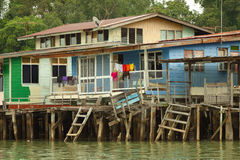 Water village called Kampong Ayer. Brunei is one of the richest countries in world. Royalty Free Stock Images