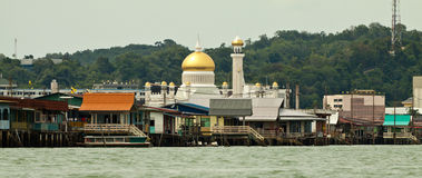 Water village called Kampong Ayer. Brunei is one of the richest countries in world. Stock Photos