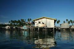 Water village mabul island borneo Royalty Free Stock Photography