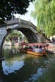 Water Village-Nanxun ancient town. Nanxun, an old town in Zhejiang province of China is renowned for bridges, Lanes and covered corridors royalty free stock image