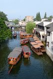 Water Village-Nanxun ancient town. Nanxun, an old town in Zhejiang province of China is renowned for bridges, Lanes and covered corridors royalty free stock photo