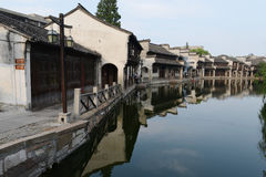 Water Village-Nanxun ancient town. Nanxun, an old town in Zhejiang province of China is renowned for bridges, Lanes and covered corridors royalty free stock photography