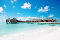 Water village in the ocean Stock Photography