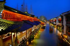 Water Village-Wuzhen ancient town Stock Images