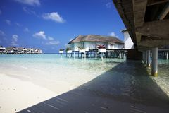 Water villas Stock Images