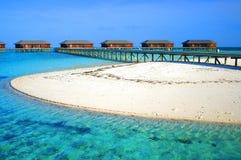 Water villas. Exclusive water villas on the Maldives Stock Photo