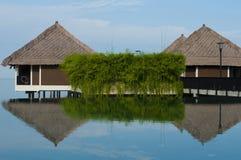 Water villas. A beautiful water villa resort Royalty Free Stock Photo