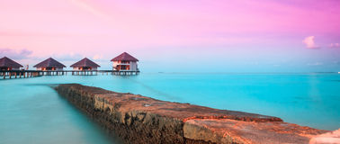 Water Villas - Bungalows Royalty Free Stock Photography