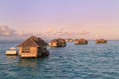 Water Villas at Gili Lankanfushi Stock Image