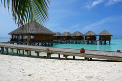 Water villas and jetty Stock Photography