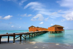 Water villas on the maldives Stock Photo