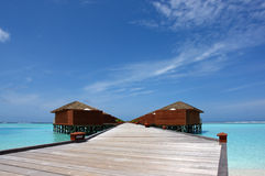 Water villas on the maldives Royalty Free Stock Photography