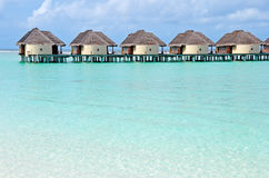 Water villas on the maldives Stock Image
