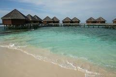 Water villas on Maldives Stock Image