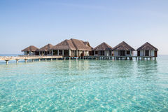 Water villas in the Maldives Stock Photography