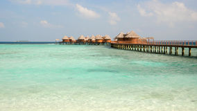 Water villas at Nika Resort, Maldives Royalty Free Stock Image