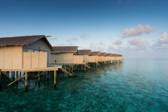 Water villas resort, Maldives Royalty Free Stock Images