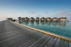 Water villas resort, Maldives Stock Photo