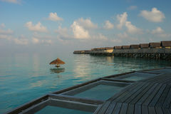 Water villas resort , Maldives Royalty Free Stock Photo