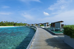 Water villas resort, Maldives island Royalty Free Stock Photography