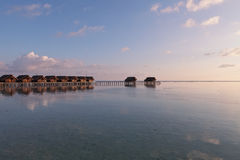 Water villas resort Royalty Free Stock Photos