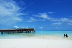 Water villas at tropical resort Royalty Free Stock Photography