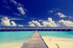 Water villas in tropical resort Stock Image