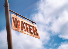 Water Vintage Rusted Sign Stock Image