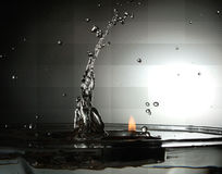 Water vs Fire Stock Photos