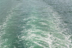 Water wake of cruise liner Royalty Free Stock Photos