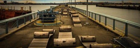 Water Walkway Red Hook Brooklyn. Water Walkway on Hudson River in Red Hook Brooklyn Stock Photography