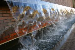 Water wall 1 Royalty Free Stock Photo