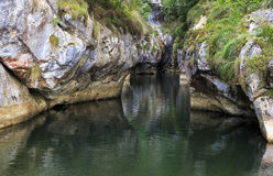Water between the walls of gorges Stock Image