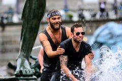 Water war Royalty Free Stock Photo