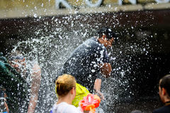 Water war Stock Photo