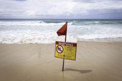 Water warning sign Royalty Free Stock Photography