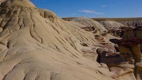Water-washable clay sedimentary rock. Rock formations at the Ah-shi-sle-pah Wash, Wilderness Study Area