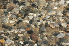 Water Washing Over Pebbles on a Lake Huron Beach Royalty Free Stock Photo