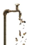 Water waste concept Stock Image