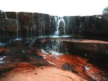 Cascada de Agua Laja Roja Parque Nacional Gran Sabana royalty free stock image