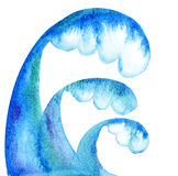Water wave. Handmade abstract illustration Royalty Free Stock Photos