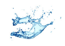 Water wave. Above white background royalty free stock photos