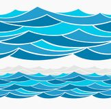 Water Wave abstract design. Stock Photos