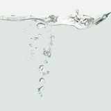 Water wave with air bubbles. Inside Royalty Free Stock Photo
