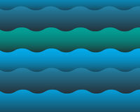 Water wave background. Abstract blue water wave background stock illustration