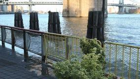 Water Wave at Brooklyn Bridge Royalty Free Stock Images