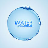 Water wave bubble circle. Water banner for fresh drink Royalty Free Stock Photography
